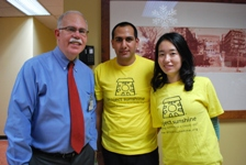 Dr. Leonard Berkowitz, Medical Director of The Brooklyn Hospital Center's PATH program, with volunteers from Project Sunshine